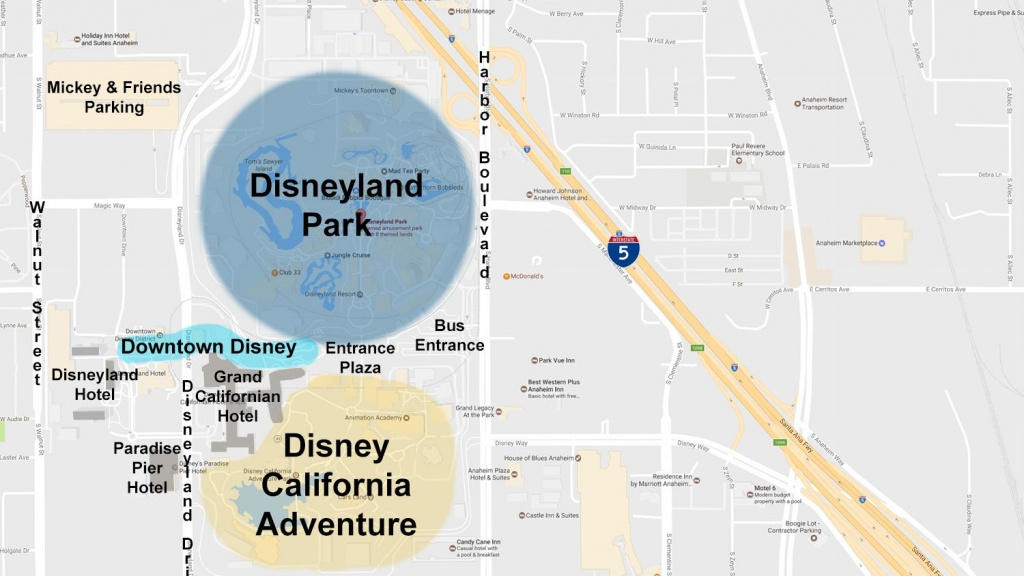 Maps Of The Disneyland Resort - Best Western Locations California Map
