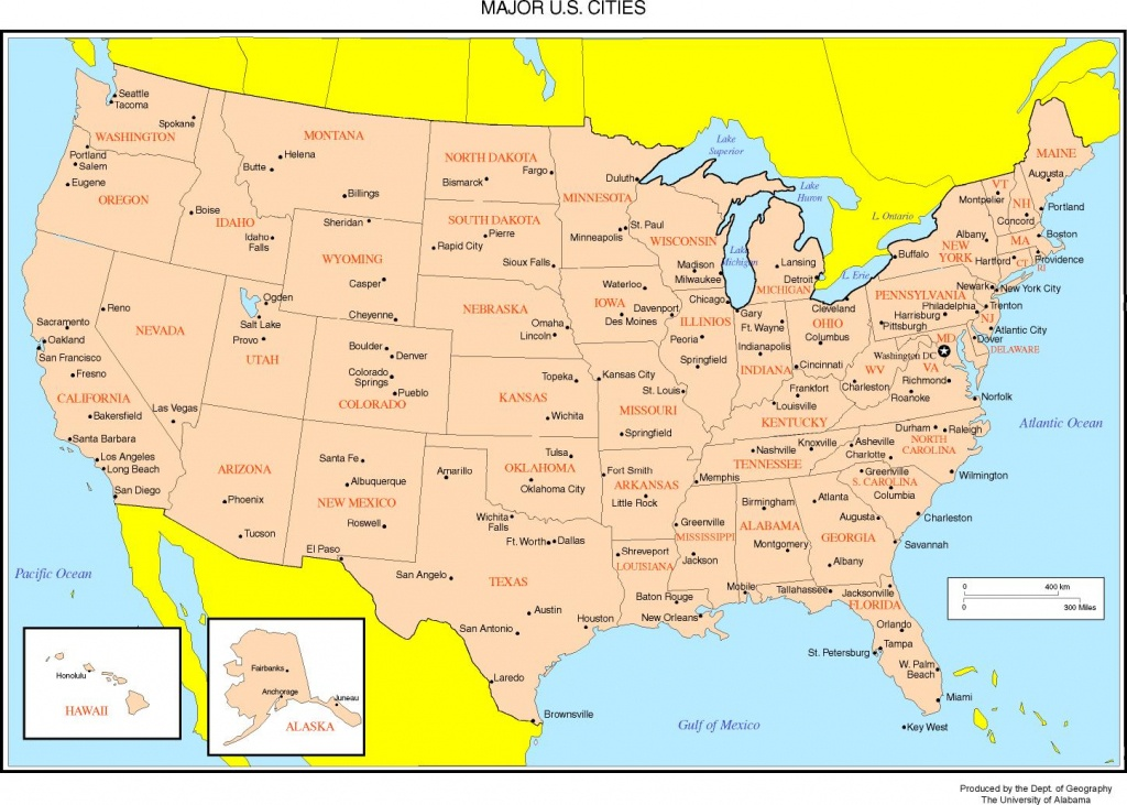 Maps Of The United States - Printable State Maps With Major Cities