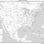 Maps Of The United States   Printable Usa Map With Cities