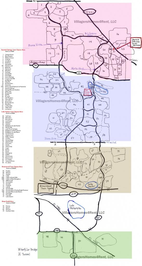 Maps Of The Villages, Copyright Villagershomes4Rent, Llc - The Villages Florida Map