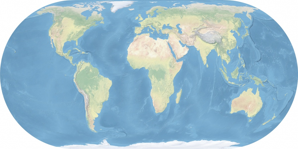 Maps Of The World - Wikimedia Commons - Topographic World Map Printable