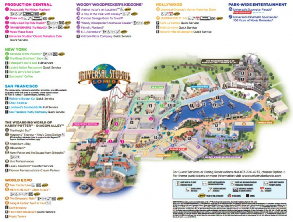 Maps Of Universal Orlando Resort's Parks And Hotels - Universal Studios Florida Citywalk Map