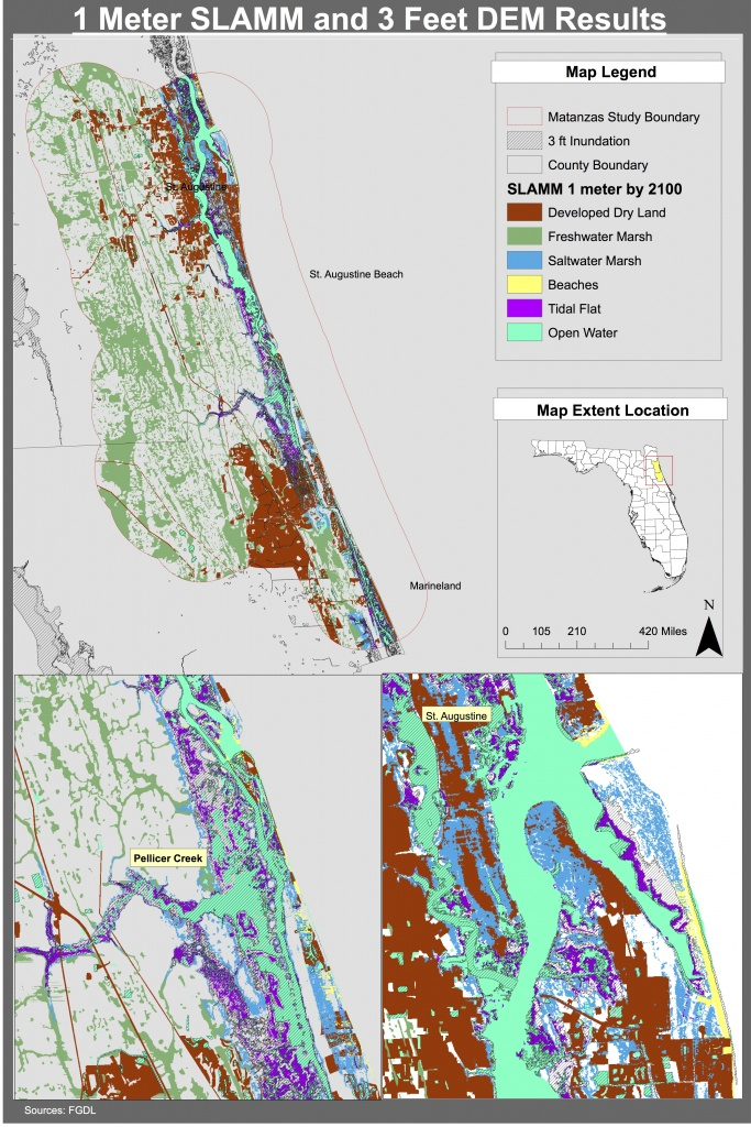 Maps | Planning For Sea Level Rise In The Matanzas Basin - Florida Elevation Map By Address