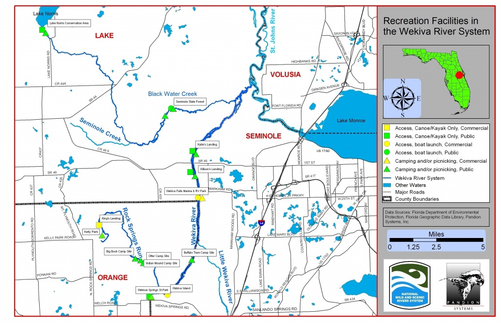 Maps | Wekiva River Systemwekiva River System - Natural Springs Florida Map