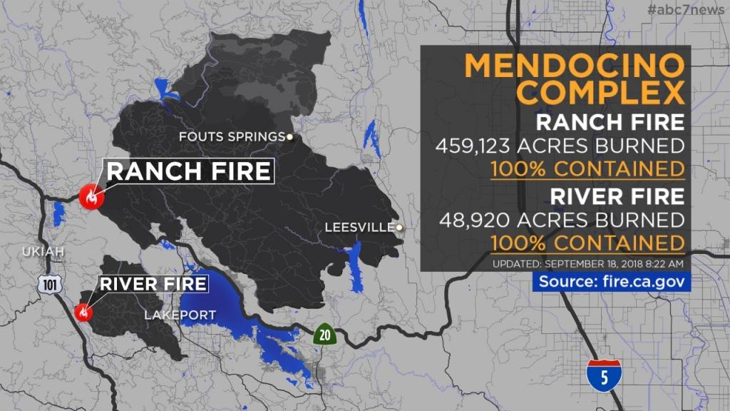 Maps: Wildfires Burning Across California | Abc7News - Fire Watch California Map