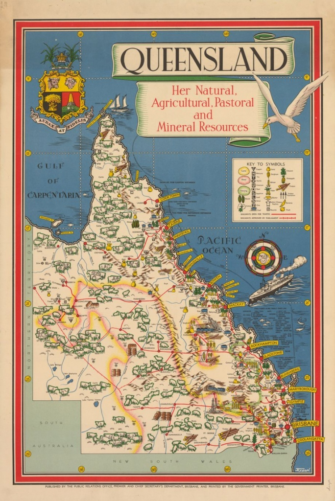 Maps | X Marks The Spot | Map, Australia Map, Queensland Australia - Queensland Road Maps Printable