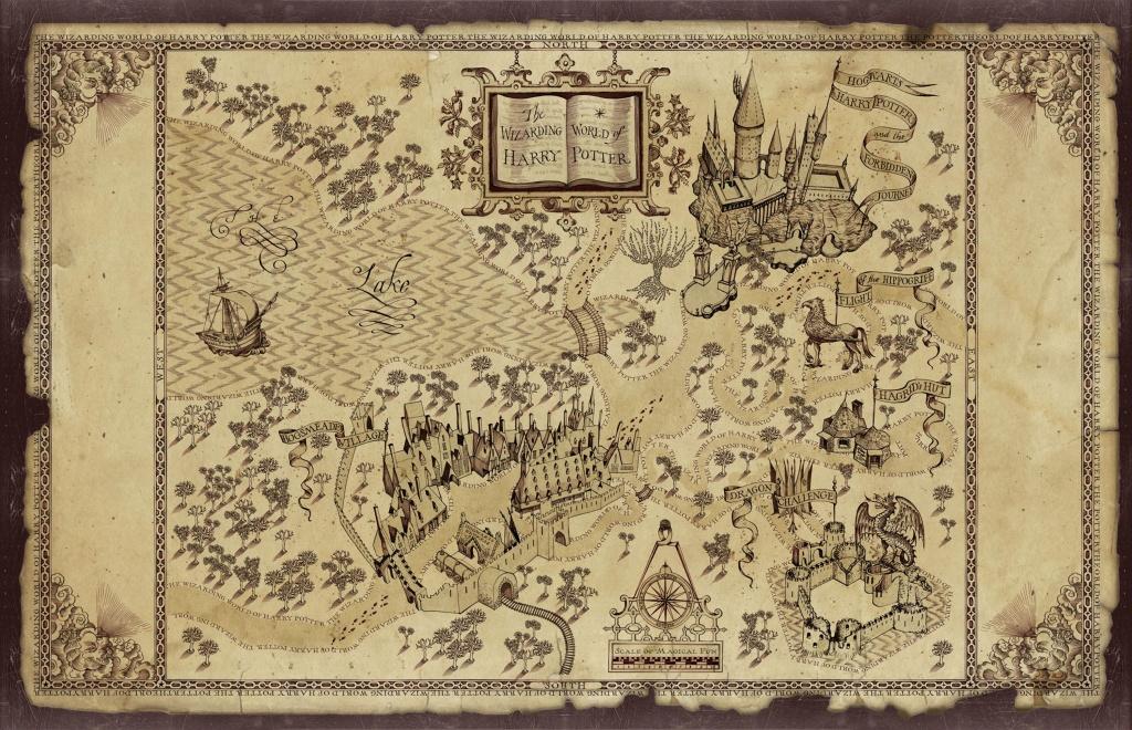 Marauders Map Printable Pdf (90+ Images In Collection) Page 3 - Marauders Map Printable