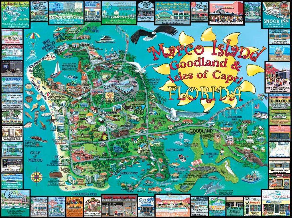 Marco Island, Fl Jigsaw Puzzle | Puzzlewarehouse - Marco Island Florida Map