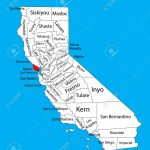 Marin County (California, United States Of America) Vector Map..   Marin County California Map