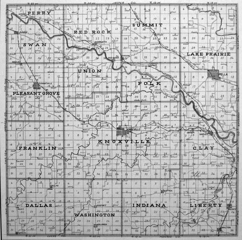 Marion County Iowa Map | Autobedrijfmaatje - Marion County Florida Plat Maps