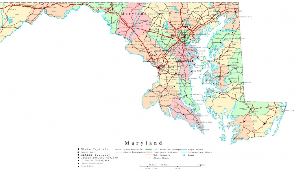 Maryland County Map Printable | Printable Maryland Map | Adorable In - Printable Map Of Maryland