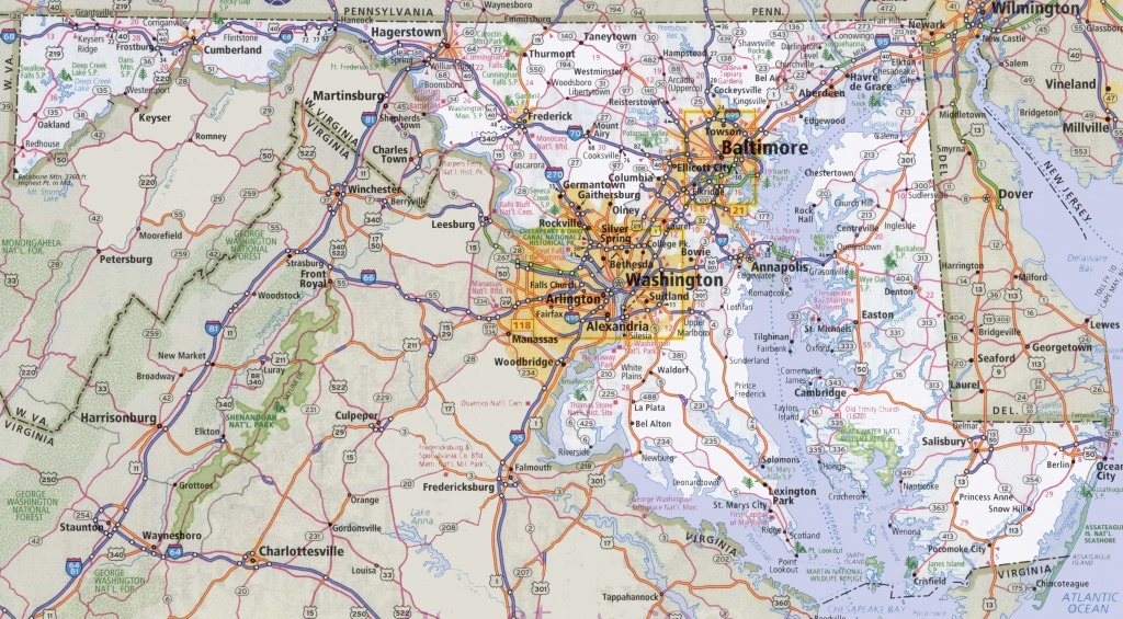 Maryland State Maps | Usa | Maps Of Maryland (Md) - Printable Map Of Annapolis Md