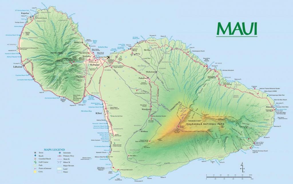 Maui Maps   Go Hawaii - Maui Road Map Printable