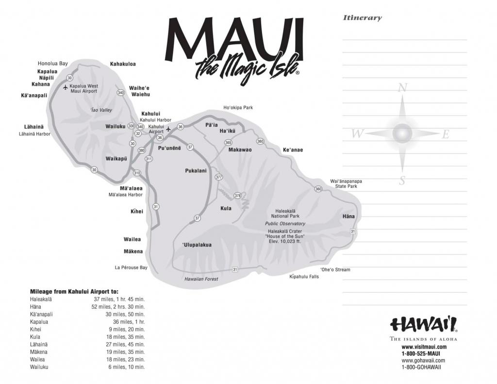 Maui Maps Printable   Scope Of Work Template Mileage   Hawaii   Maui - Maui Road Map Printable