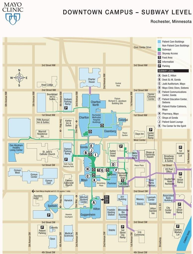 Mayo Campus Map – Bestinthesw - Mayo Clinic Florida Map