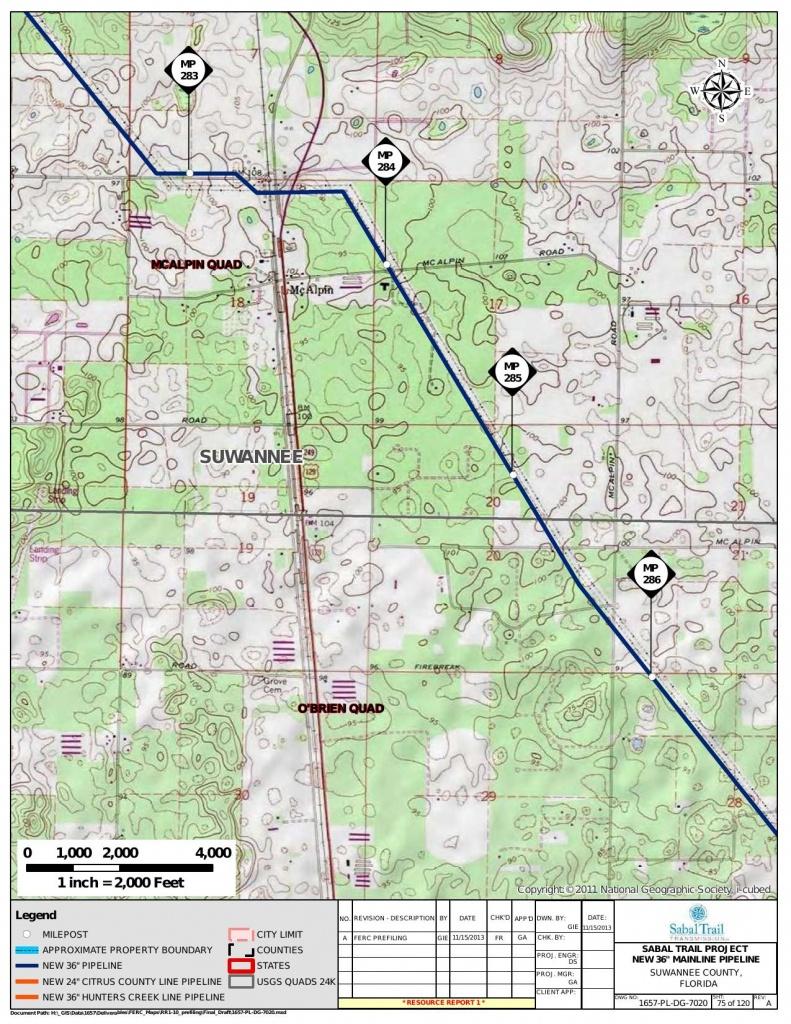 Mcalpin, Suwannee County, Florida, In General Project Description - Mcalpin Florida Map