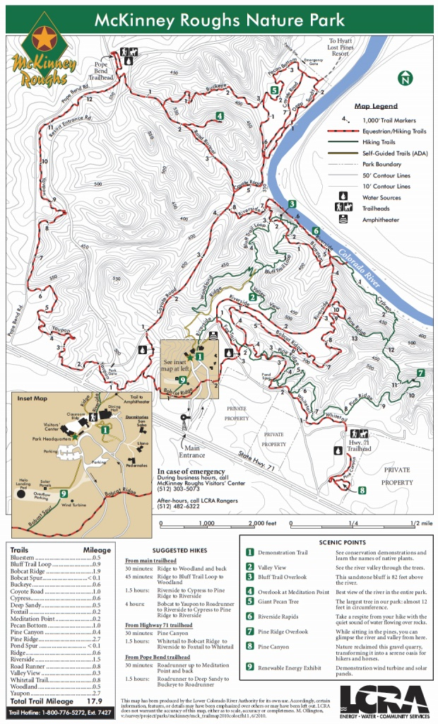 Mckinney Roughs Nature Park, Cedar Creek Tx - Cedar Creek Texas Map