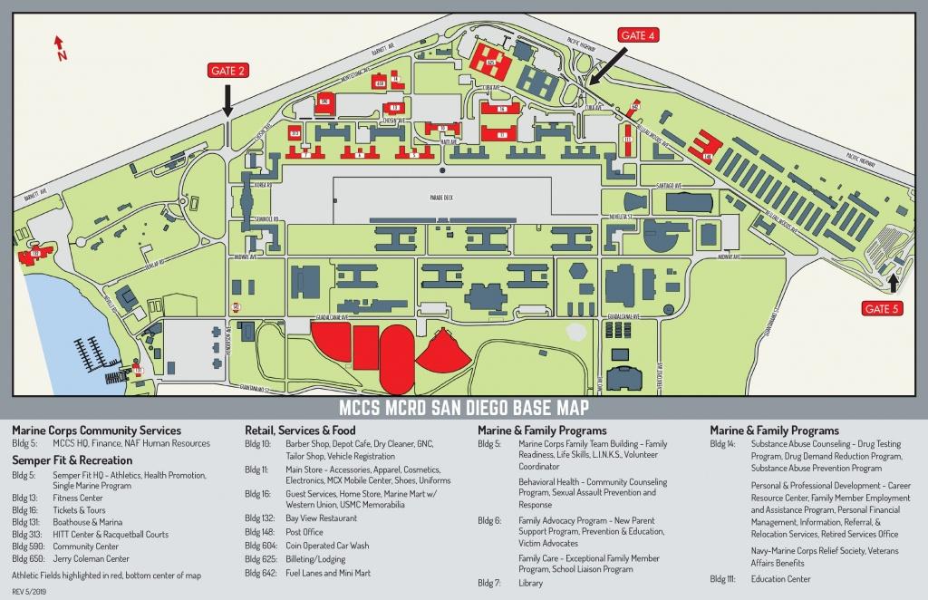 Mcrd Base Map – Marine Corps Community Services, Mcrd San Diego - Dod Lodging California Map