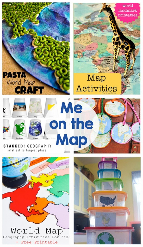 Me On The Map | Mommy's Montessori | Map Activities, Teaching Maps - Me On The Map Printables