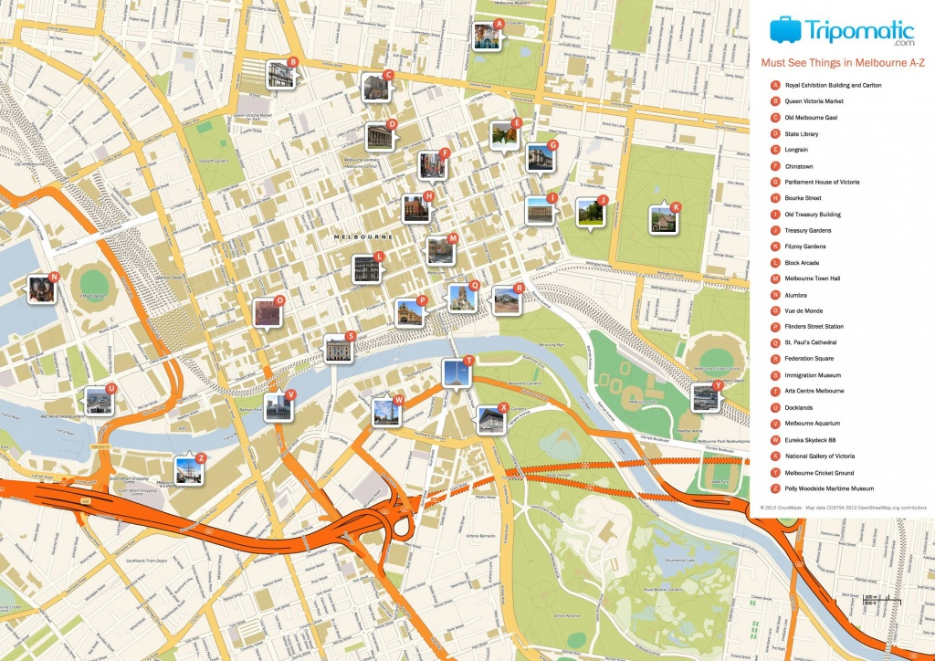 Melbourne Printable Tourist Map In 2019 | Free Tourist Maps - Create Printable Map