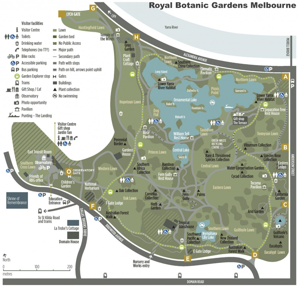 Melbourne Royal Botanic Gardens Map - Florida Botanical Gardens Map