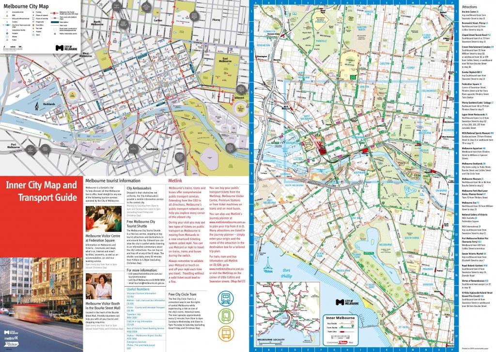 Melbourne Tourist Map - Melbourne City Map Printable