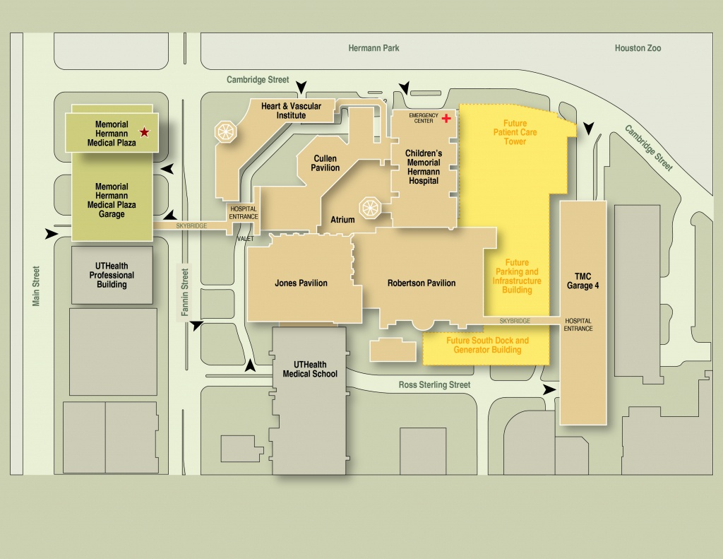 Memorial Hermann–Texas Medical Center Expansion Maps & Routes - Texas Children's Hospital Map