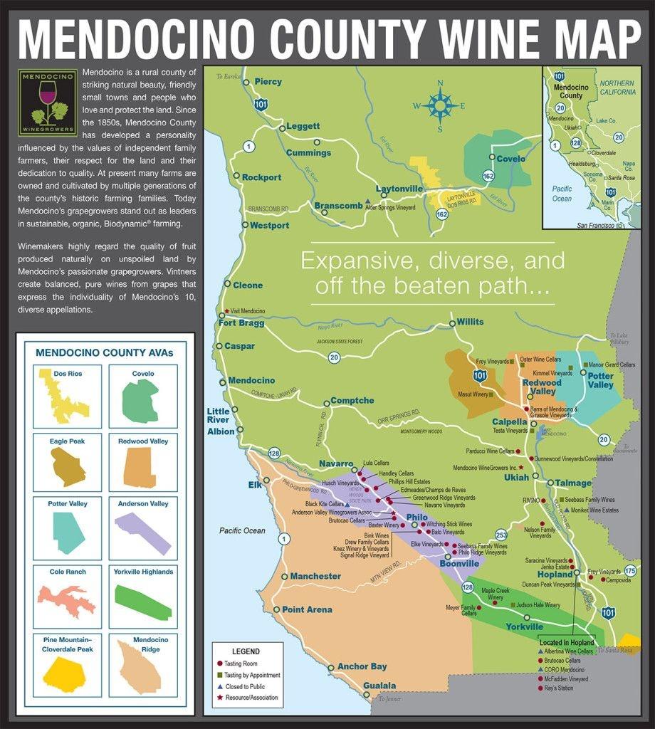 Mendocino County Wine - Lake Geneva Country Meats | California - Mendocino County California Map