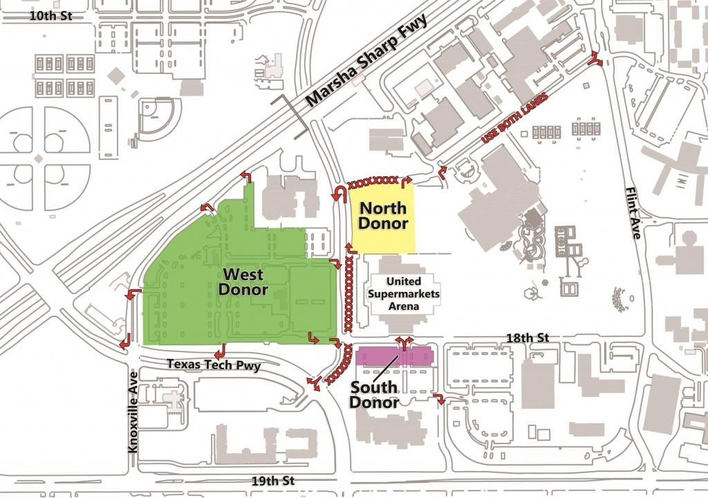 Men's Basketball Parking - Texas Tech University Athletics - Texas Tech Football Parking Map 2017