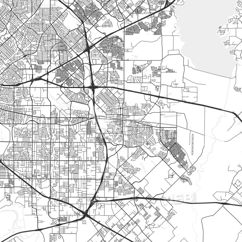 Mesquite, Texas - Area Map - Light | Hebstreits Sketches - Mesquite Texas Map