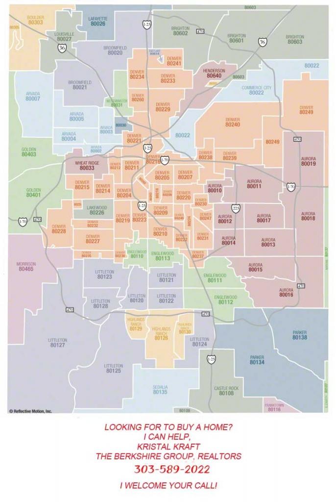 Metro Denver Zip Code Map Search - Colorado Springs Zip Code Map Printable