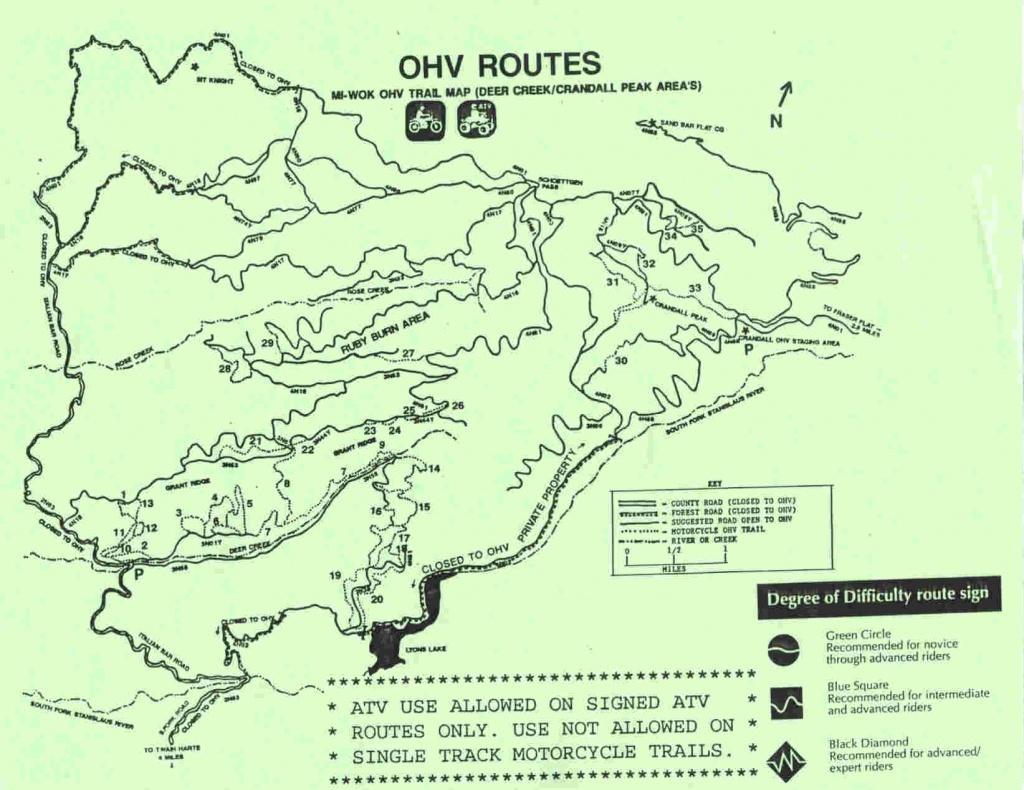 Mi-Wok Ohv Trail Map - Merced Ca • Mappery - California Ohv Map