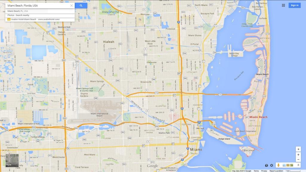 Miami Beach Florida Map - Sunny Isles Beach Florida Map