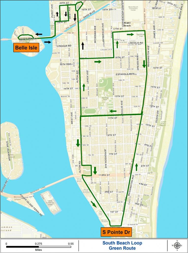Miami Beach Free Trolley Service | South Beach Magazine - South Beach Florida Map