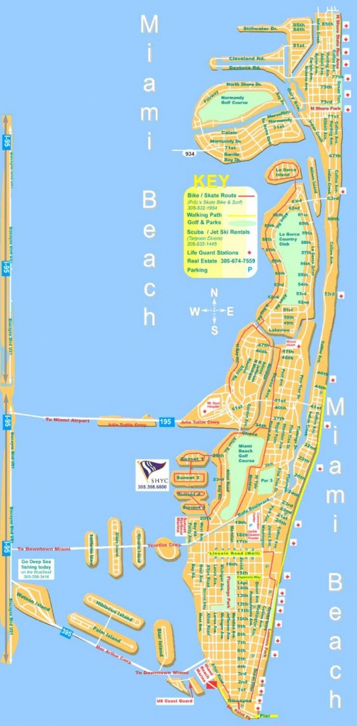 Miami Beach Map - Map Of Miami Beach (Florida - Usa) - Map Of Miami Beach Florida