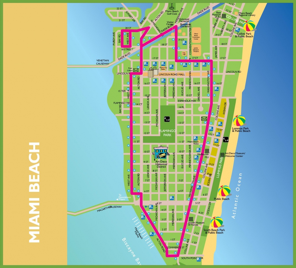 Miami Beach Tourist Map - Miami City Map Printable