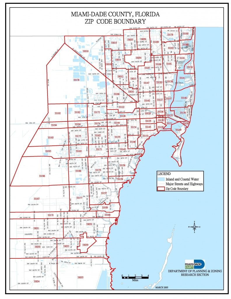 Miami-Dade Zip Code Map | Miami Real Estate Maps And Graphics In - Zip Code Map Of Palm Beach County Florida