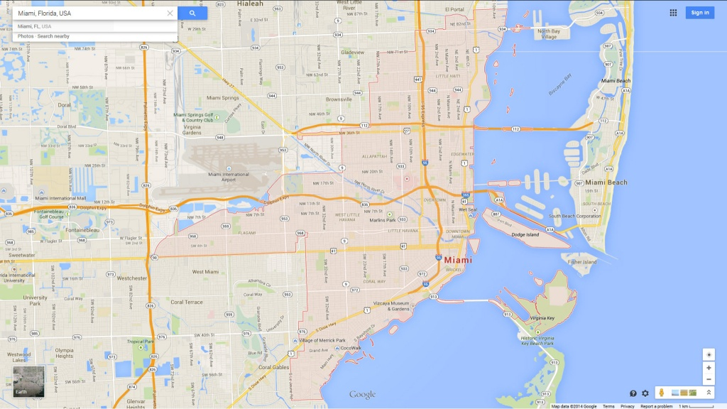 Miami, Florida Map - Google Maps Miami Florida