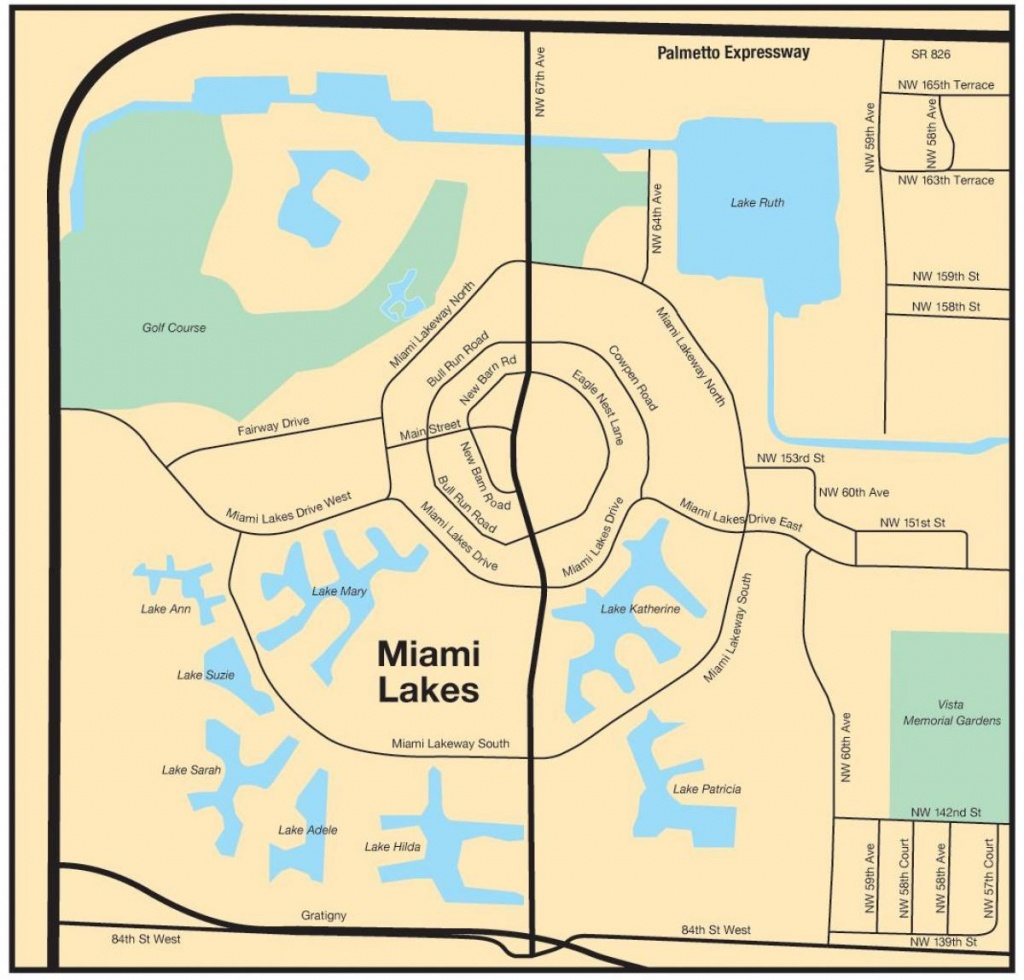 Miami Lakes Map - Map Of Miami Lakes (Florida - Usa) - Miami Lakes Florida Map