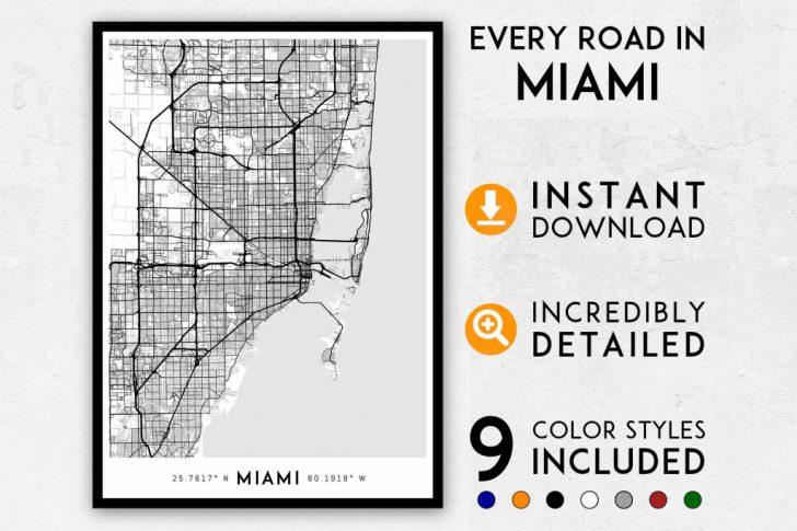 Miami City Map Printable
