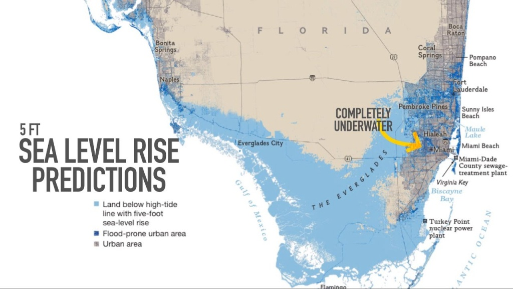 Miami May Be Underwater2100 - Youtube - Florida Global Warming Map