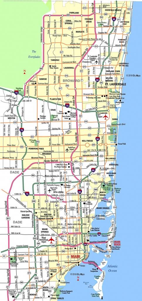 Miami Metropolitan Area Highways - Aaccessmaps - Highway Map Of South Florida