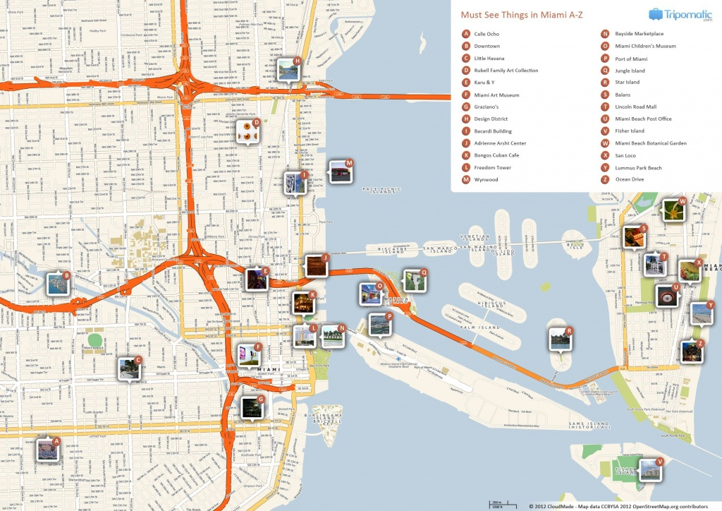 Miami Printable Tourist Map | Free Tourist Maps ✈ | Miami - Los Cayos Florida Map
