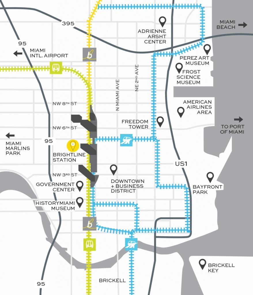 Miami Train Station | Brightline Transit - Brightline Florida Map