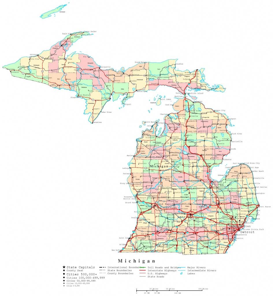 Michigan Printable Map Trend Map Of Michigan Upper Peninsula Cities - Printable Upper Peninsula Map
