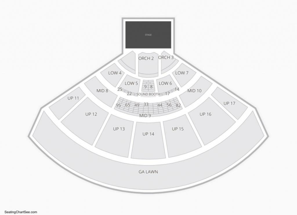Midflorida Credit Union Amphitheatre Seating Chart   Seating Charts - Mid Florida Amphitheater Parking Map