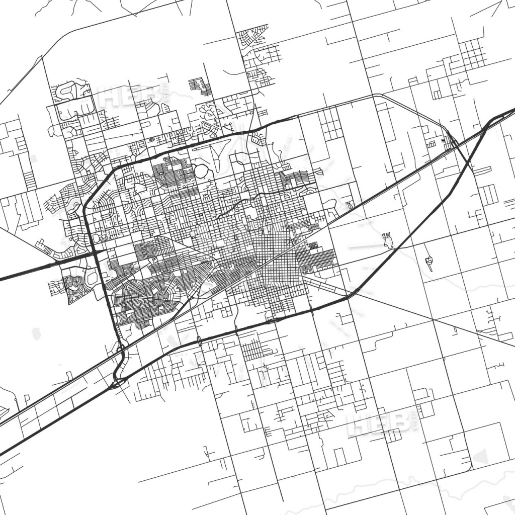 Midland, Texas - Area Map - Light | Hebstreits Sketches - Map Of Midland Texas And Surrounding Areas