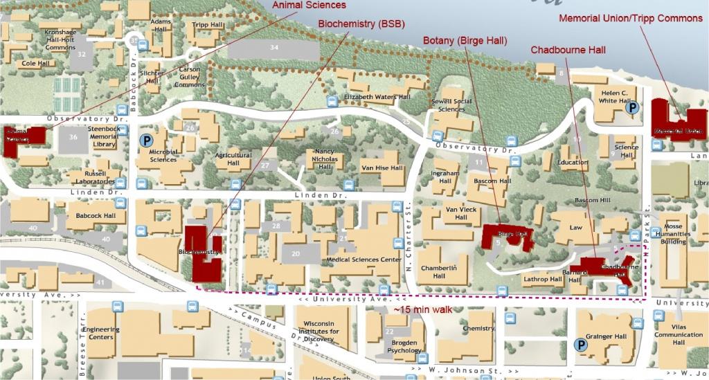 Midwest Pcb Registrants - Printable Uw Madison Campus Map