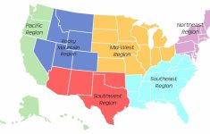Map Of The United States By Regions Printable