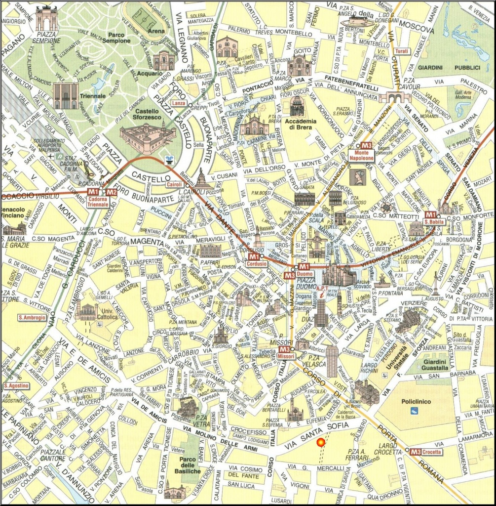 Milan Map - Detailed City And Metro Maps Of Milan For Download - Printable Map Of Milan City Centre